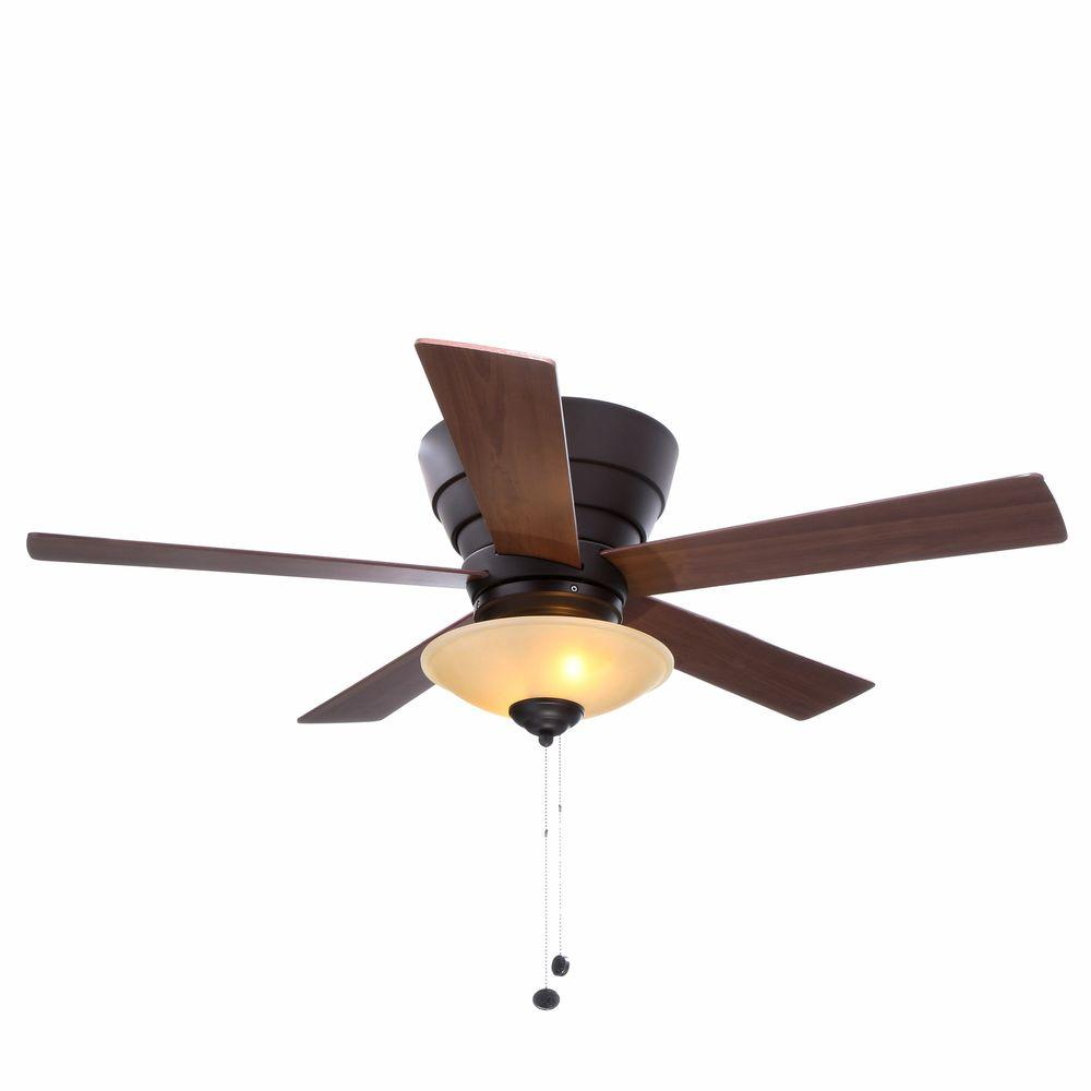 Led Indoor Oil Rubbed Bronze Ceiling Fan With Light Kit 57261 The Home Depot