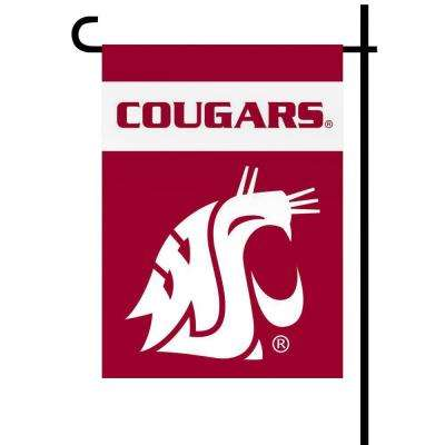 NCAA 13 in. x 18 in. Washington State 2-Sided Garden Flag Set with 4 ft. Metal Flag Stand