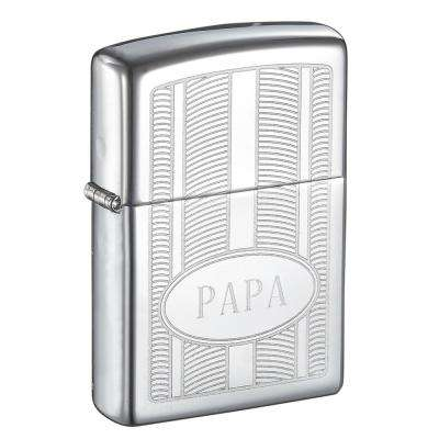 "Zippo ""PAPA"" Oval High Polish Father's Day Lighter"