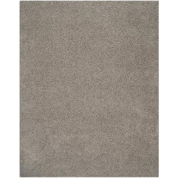Athens Shag Light Gray 9 ft. x 12 ft. Area Rug