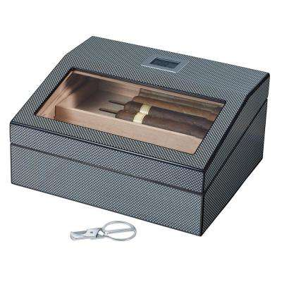 Darnell Polished Carbon Fiber Pattern Humidor