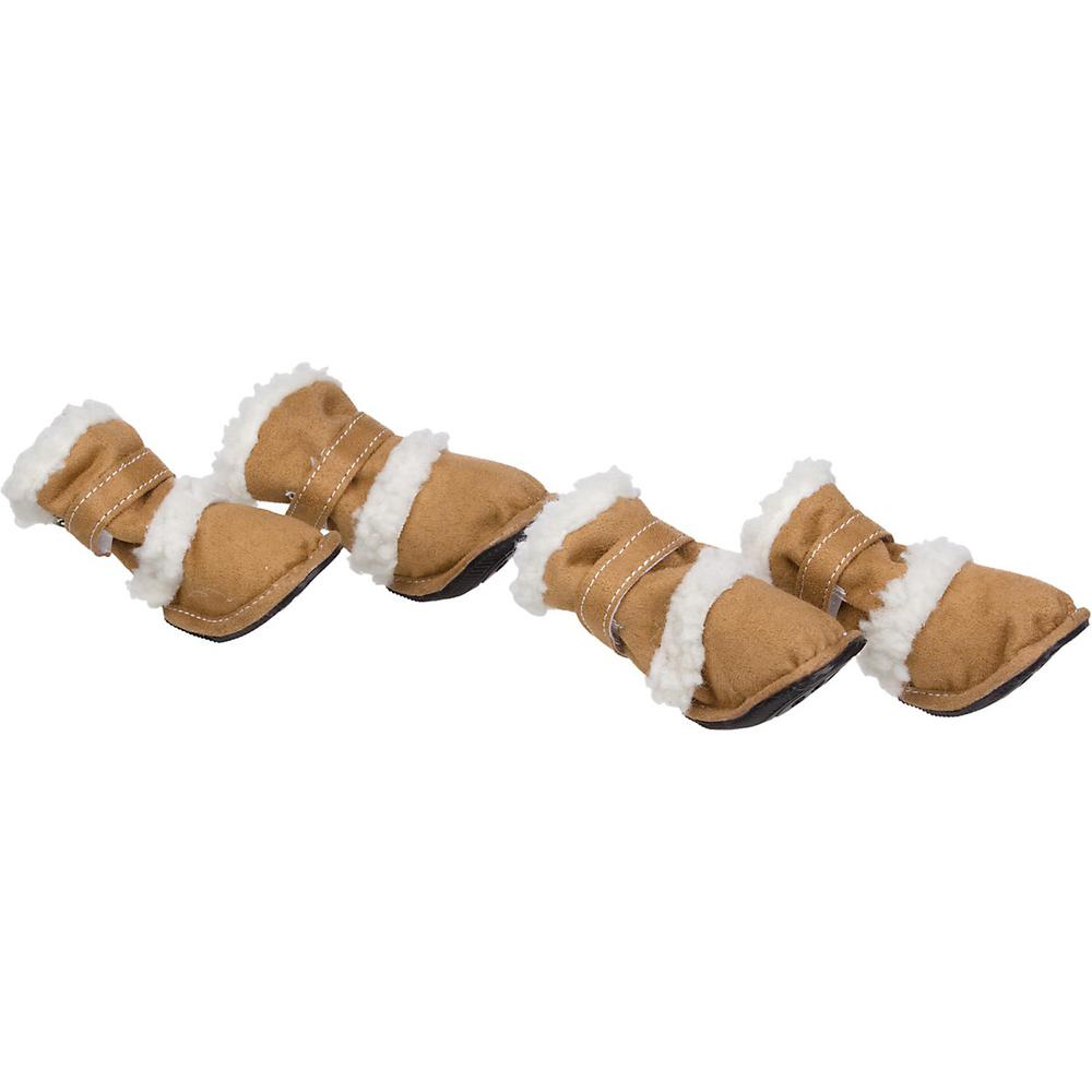 Petlife X-Large Khaki Shearling Duggz Pet Shoe Boots