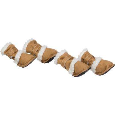 X-Large Khaki Shearling Duggz Pet Shoe Boots