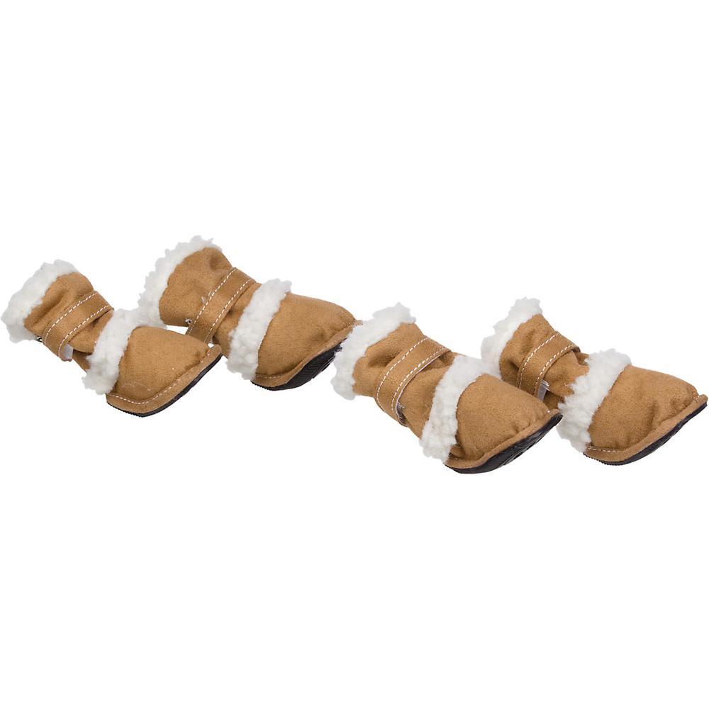 X-Large Khaki Shearling Duggz Pet Shoe Boots