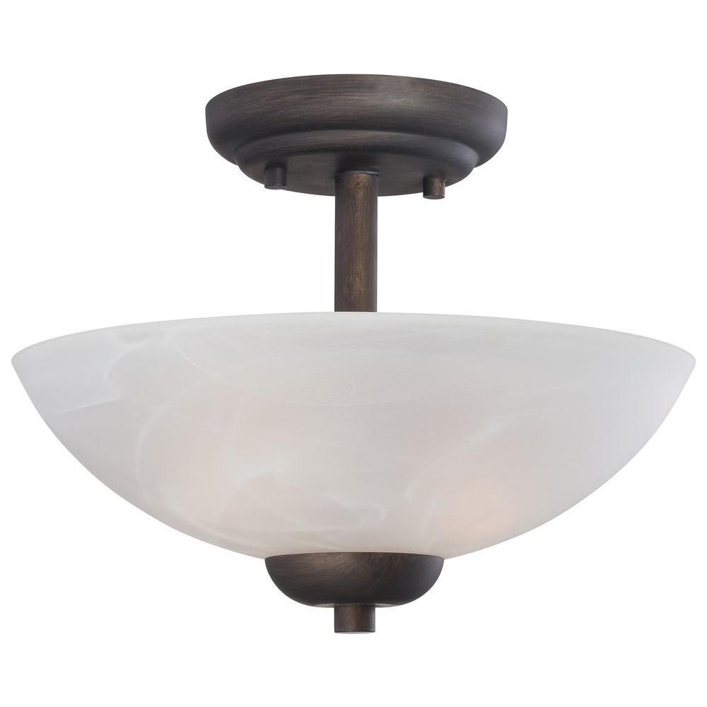 Tia 2-Light Painted Bronze Pendant