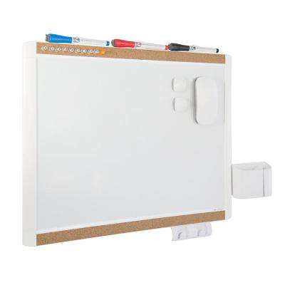 PINIT Magnetic Dry Erase Board 20 in. x 16 in. Value Pack in White Frame
