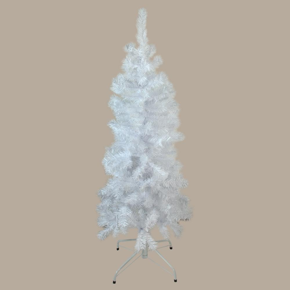White 4 Foot Christmas Tree: Northlight 4.5 Ft. X 24 In. Unlit White Winston Pine