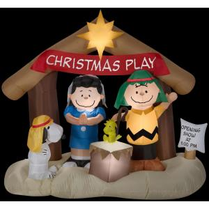 6 ft. W x 5.8 ft. H Peanuts Nativity Scene-88124X - The Home Depot