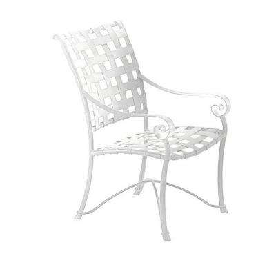 Vallero Crossweave White Commercial High Back Game Patio Chair (2-Pack)