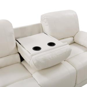 Marvelous Corliving 3Pc Plush Power Reclining White Bonded Leather Alphanode Cool Chair Designs And Ideas Alphanodeonline