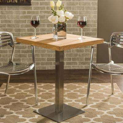 Owen Medium Brown Finished Wood Bistro Table