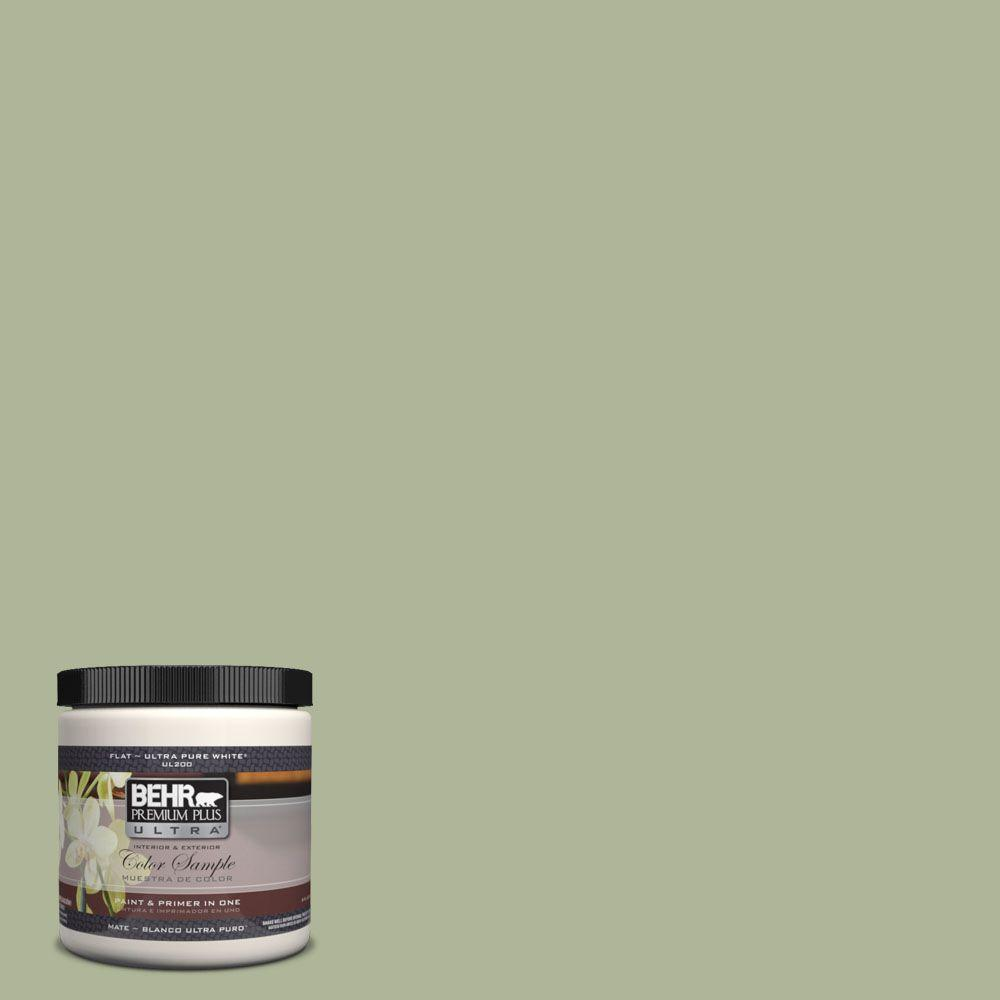 BEHR Premium Plus Ultra 8 oz. #UL210-14 Moss Print Interior/Exterior Paint Sample