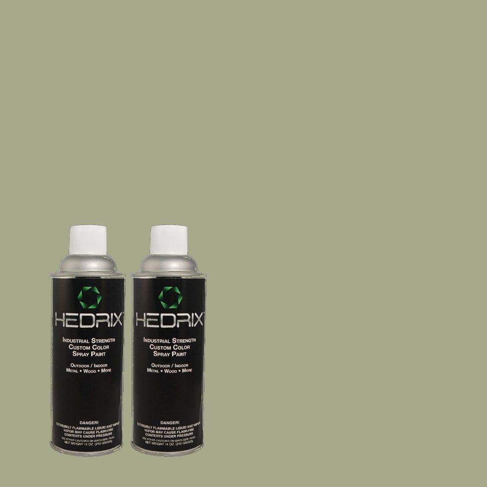 Hedrix 11 oz. Match of PPH-53 Green Amazons Semi-Gloss Custom Spray Paint (2-Pack)