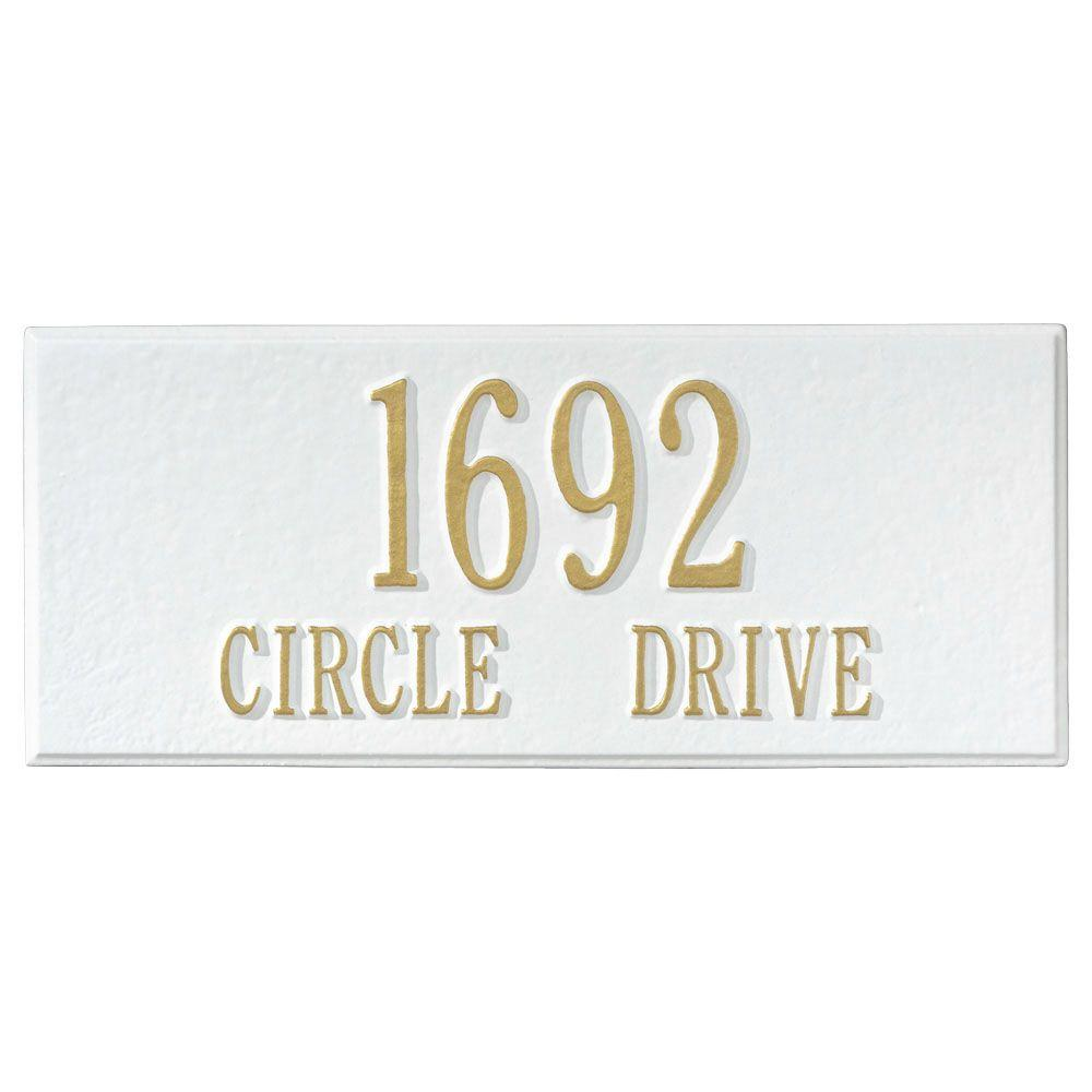 Whitehall Products Personalized White Mailbox Side Plaque