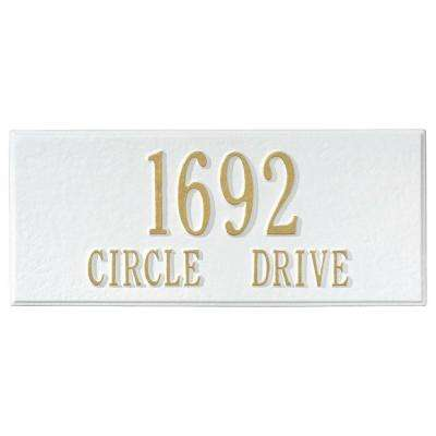 Personalized White Mailbox Side Plaque