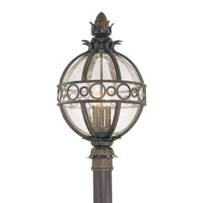 Campanile 3-Light Outdoor Campanile Bronze Post Light