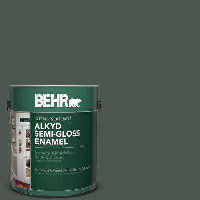 1 gal. #N420-7 Alpine Trail Semi-Gloss Enamel Alkyd Interior/Exterior Paint