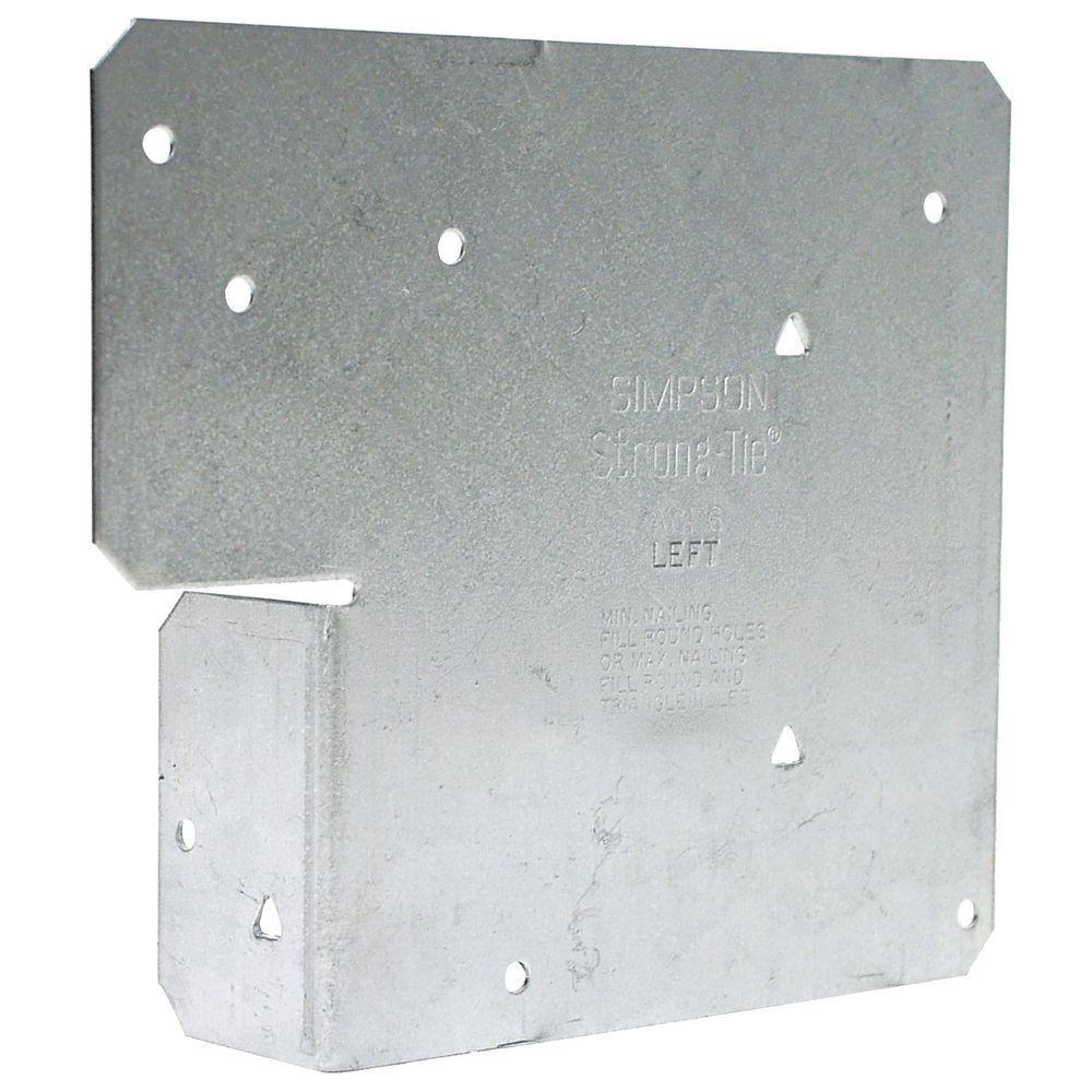 ZMAX 18-Gauge Galvanized 6x Adjustable End Post Cap