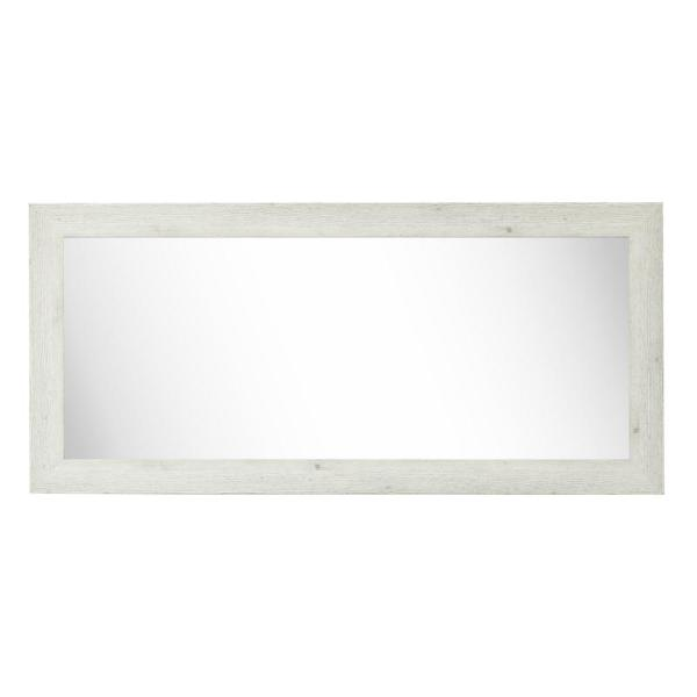 34 in. W x 73 in. H Framed Rectangular Bathroom Vanity Mirror in White