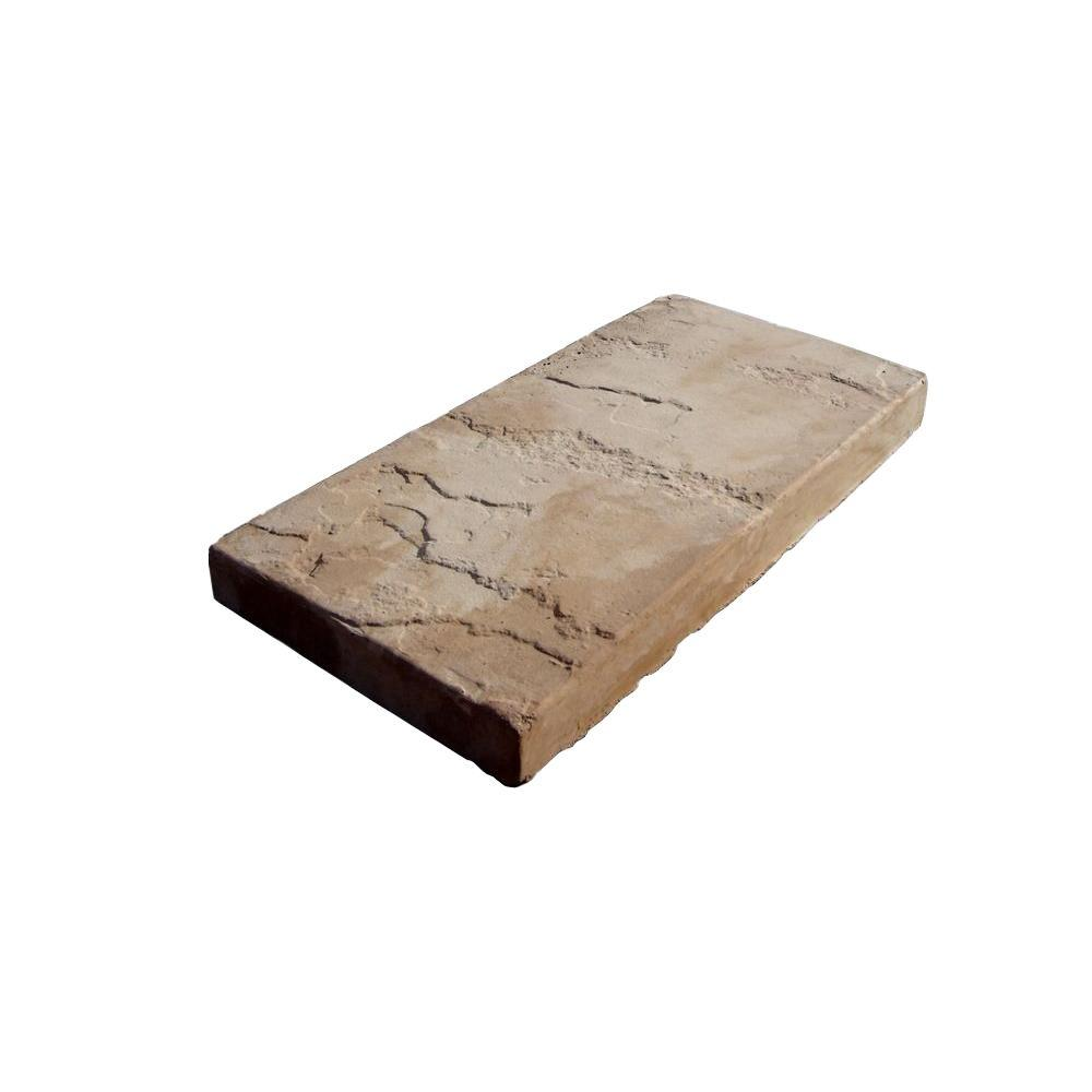 8 in. x 16 in. Tan Blend Sandcrete Concrete Stepping Stone