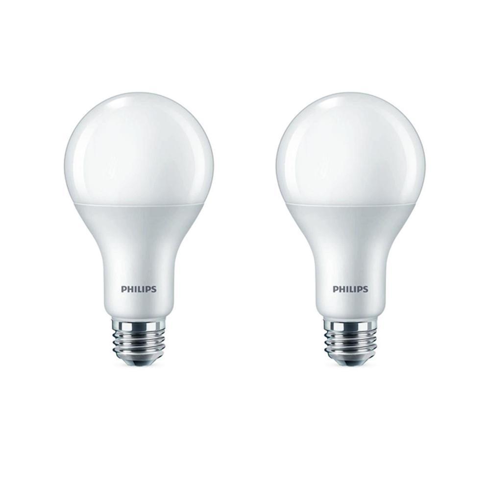 75-Watt Equivalent A21 LED Warm Glow Soft White (2-Pack)