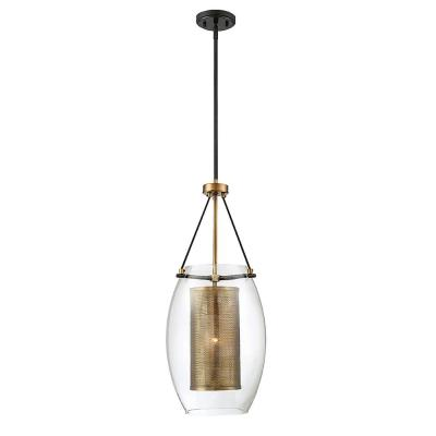 1-Light Warm Brass Pendant