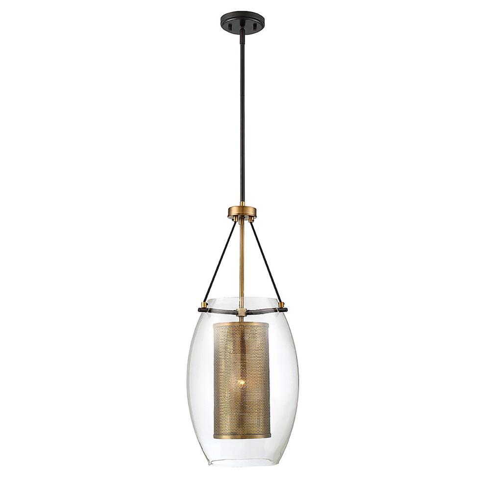 1-Light Warm Brass Pendant