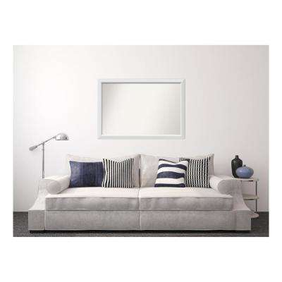 33 in. x 48 in. Blanco White Wood Framed Mirror