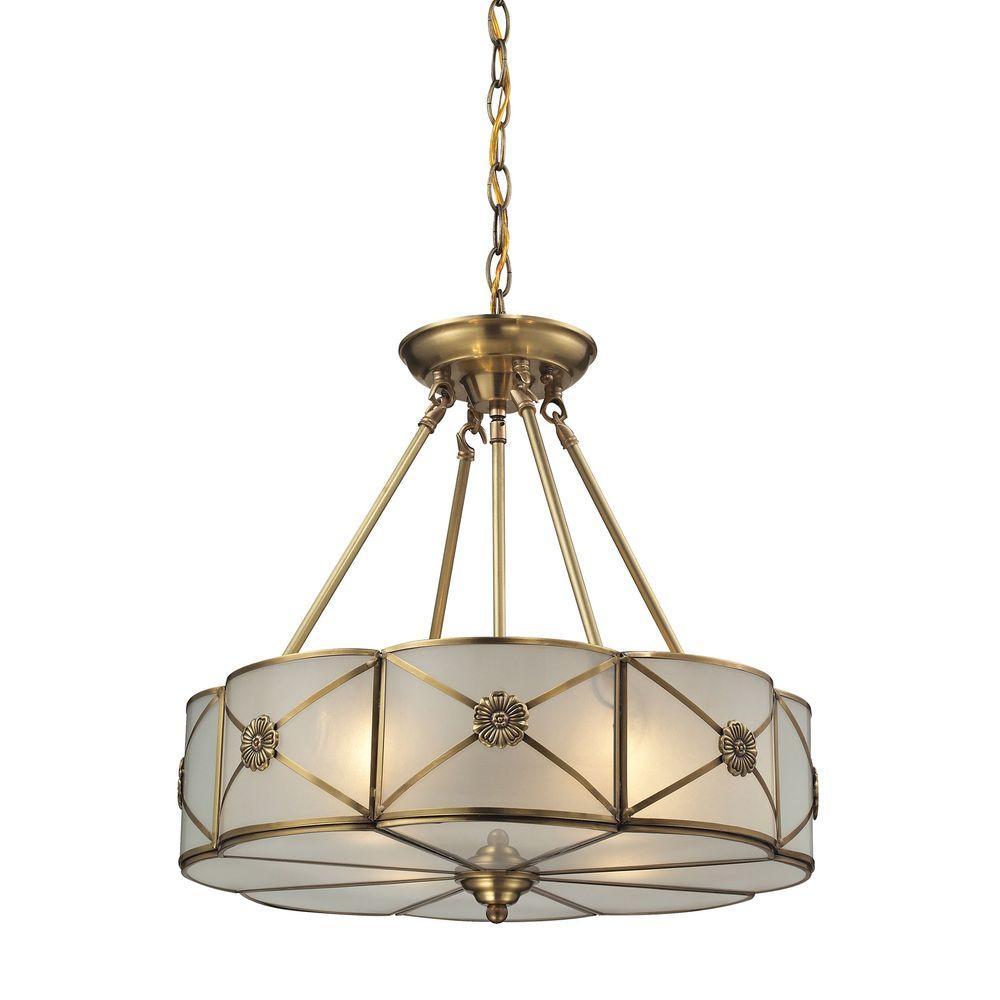 Preston 4-Light Brushed Brass Pendant