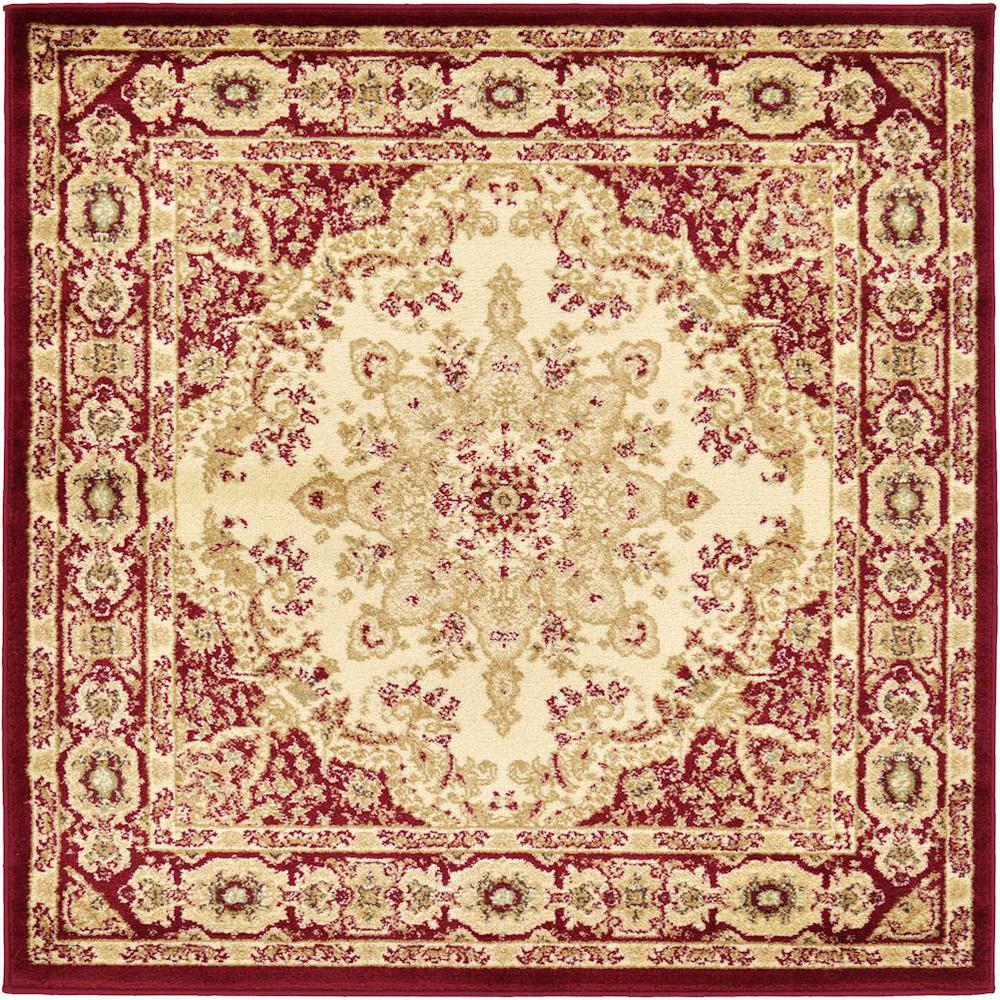 Versailles Louis Ivory 4' 0 x 4' 0 Square Rug