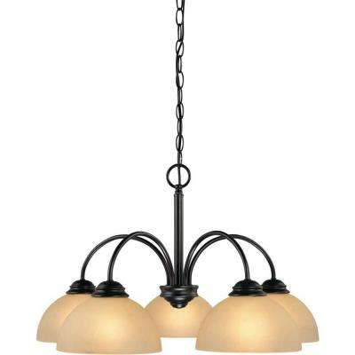 Bernice 5-Light Antique Bronze Chandelier