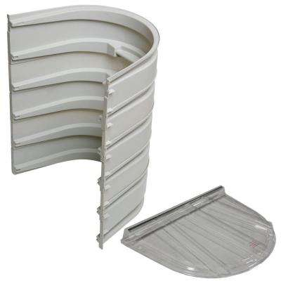 5600 5-Sections 092 Gray Egress Well with Flat Polycarbonate Cover Bundle