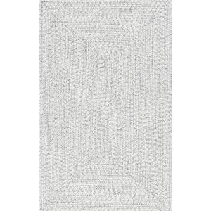 Lefebvre Braided Ivory 4 ft. x 6 ft.  Indoor/Outdoor Area Rug
