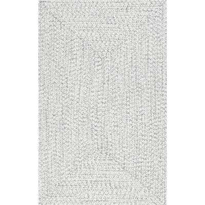 Braided Lefebvre Ivory Indoor/Outdoor 6 ft. x 9 ft. Area Rug