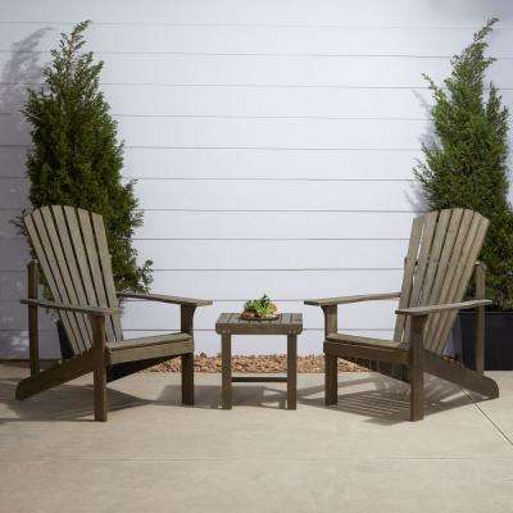 Renaissance 3-Piece Wood Patio Conversation Set