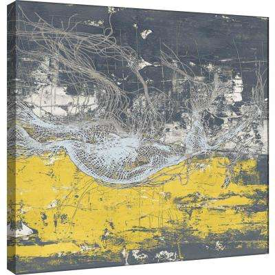 15.in x 15.in ''Frayed Abstract 3'' Printed Canvas Wall Art