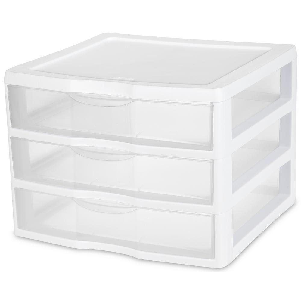 Sterilite Clearview 14.625 in. x 10.625 in. 3-Drawer Organizer Unit