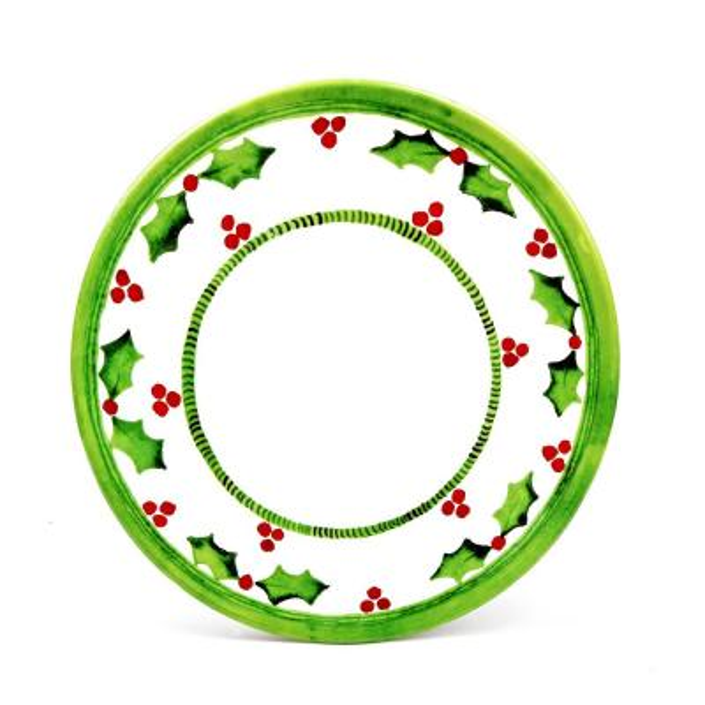 Holly Jolly Green/White Dinner Plate (Set of 4)