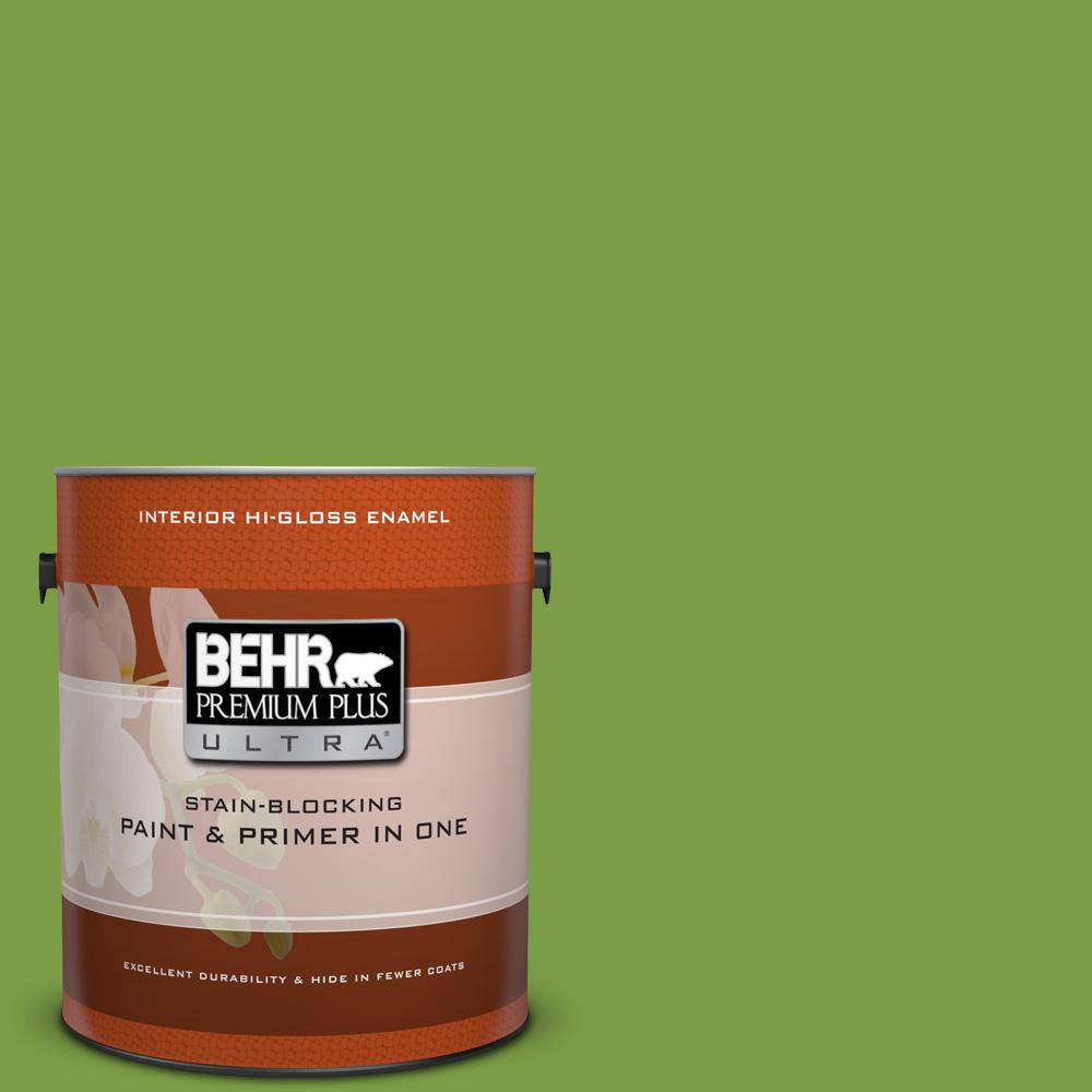 1 gal. #420B-7 Pepper Grass Hi-Gloss Enamel Interior Paint