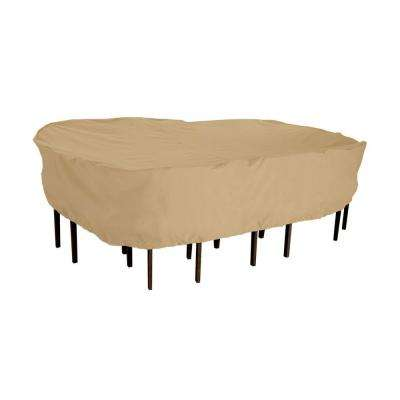 Terrazzo Rectangular/Oval Large Patio Table and Chair Set Cover