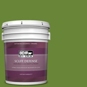 Behr Ultra 5 Gal P370 7 Sun Valley Extra Durable Eggshell Enamel Interior Paint And Primer In One 275305 The Home Depot