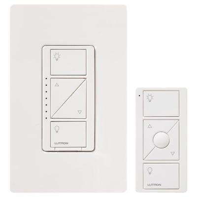 Caseta Wireless Smart Lighting Dimmer Switch and Remote Kit for Wall & Ceiling Lights, White