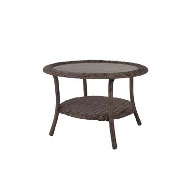 Cambridge Grey Round Resin Wicker Outdoor Coffee Table