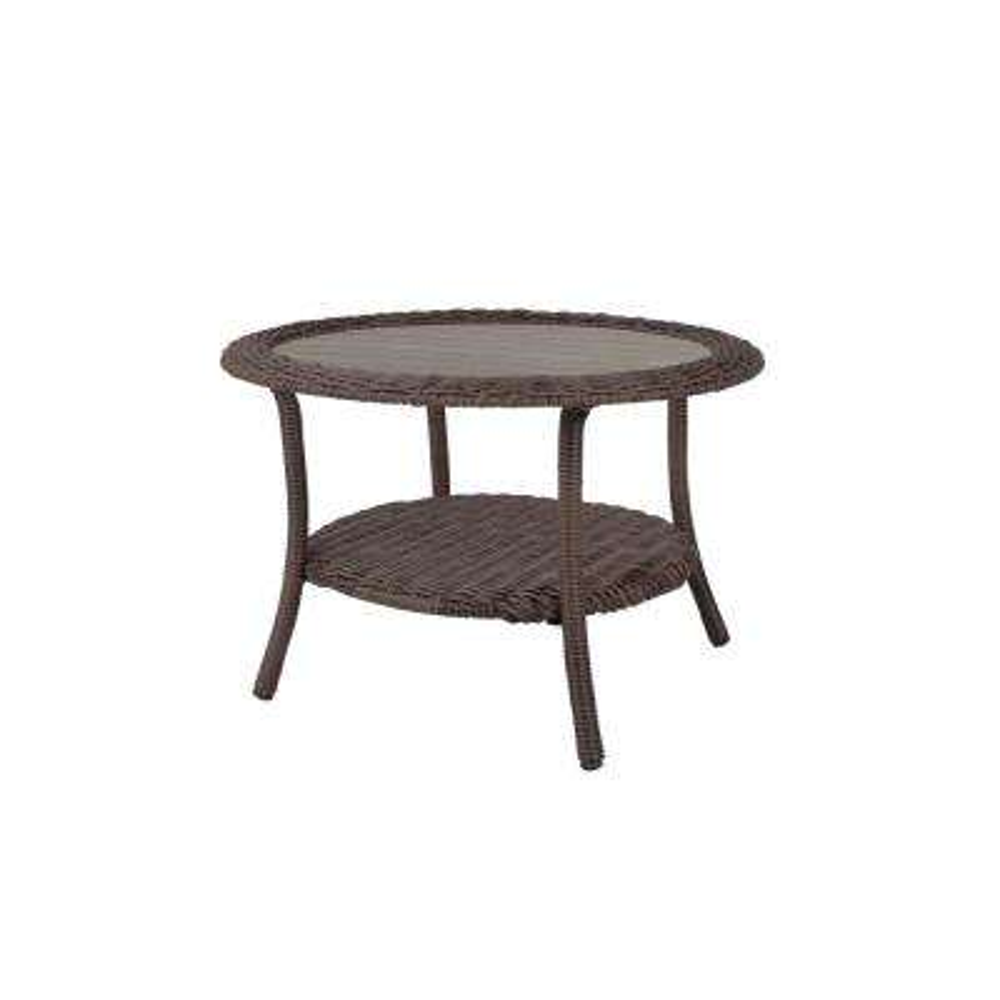 Cambridge Grey Round Resin Wicker Outdoor Coffee Table