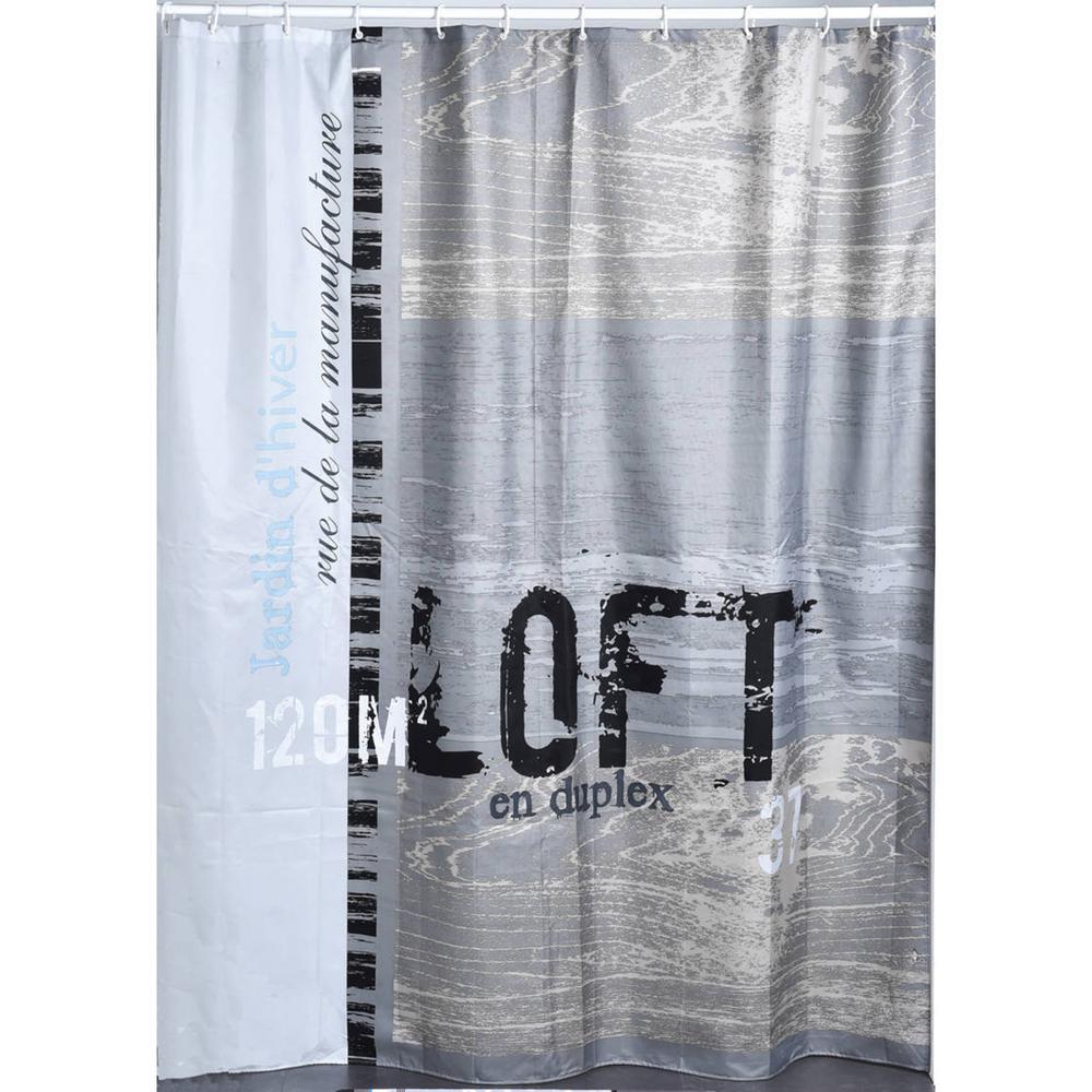 ATELIER LOFT 71 in. W x 79 in. L Gray Polyester