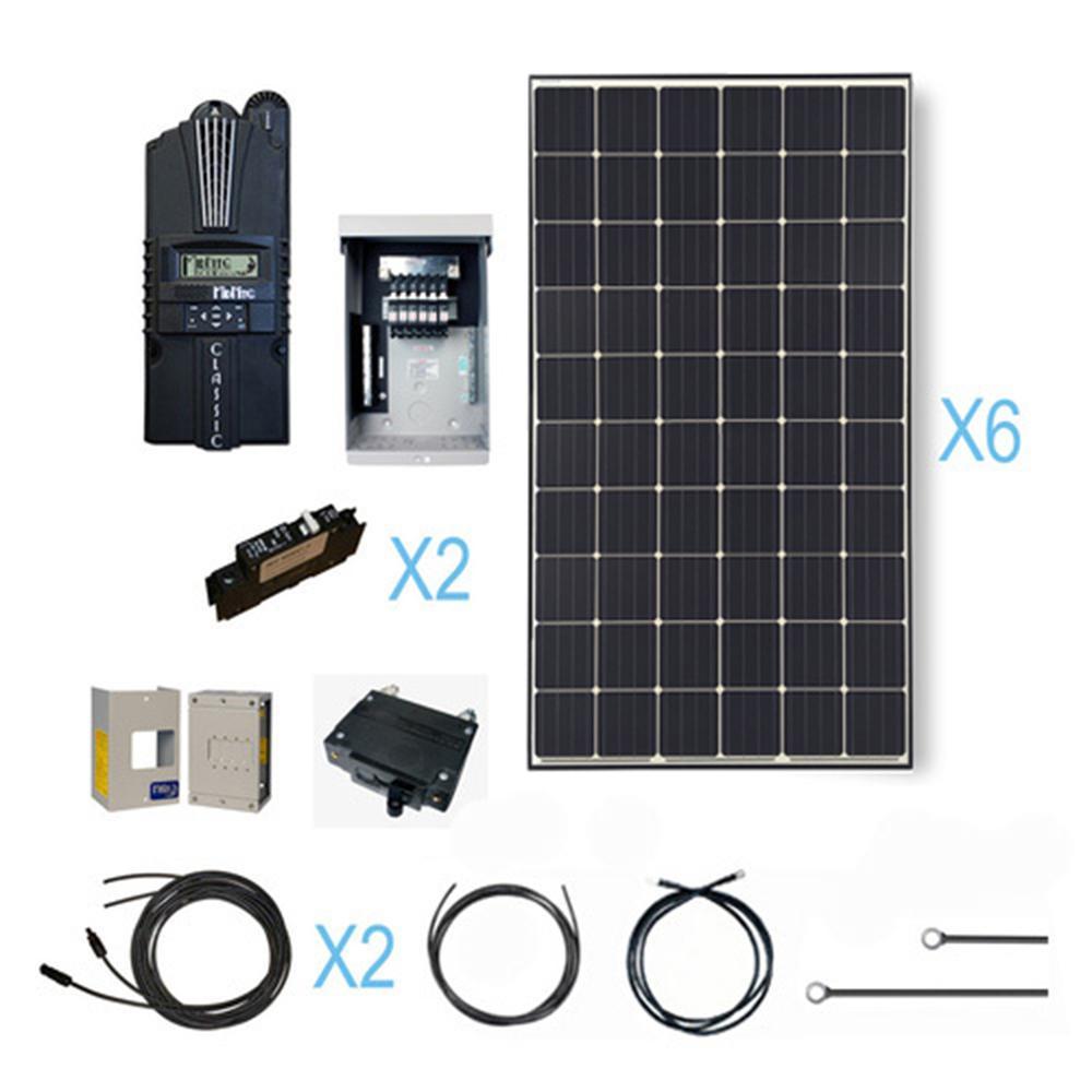 1800-Watt 24-Volt Monocrystalline Solar Cabin Kit for Off-Grid Solar System