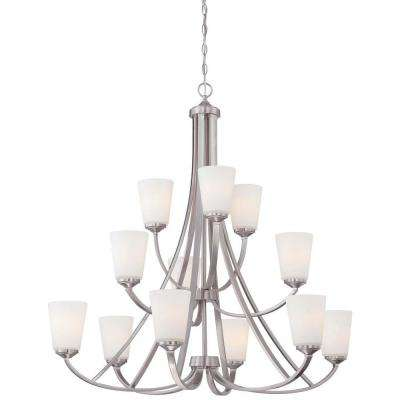 Overland Park 12-Light Brushed Nickel Chandelier