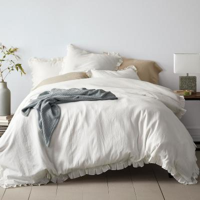 Linen Cotton Solid Duvet Cover Set