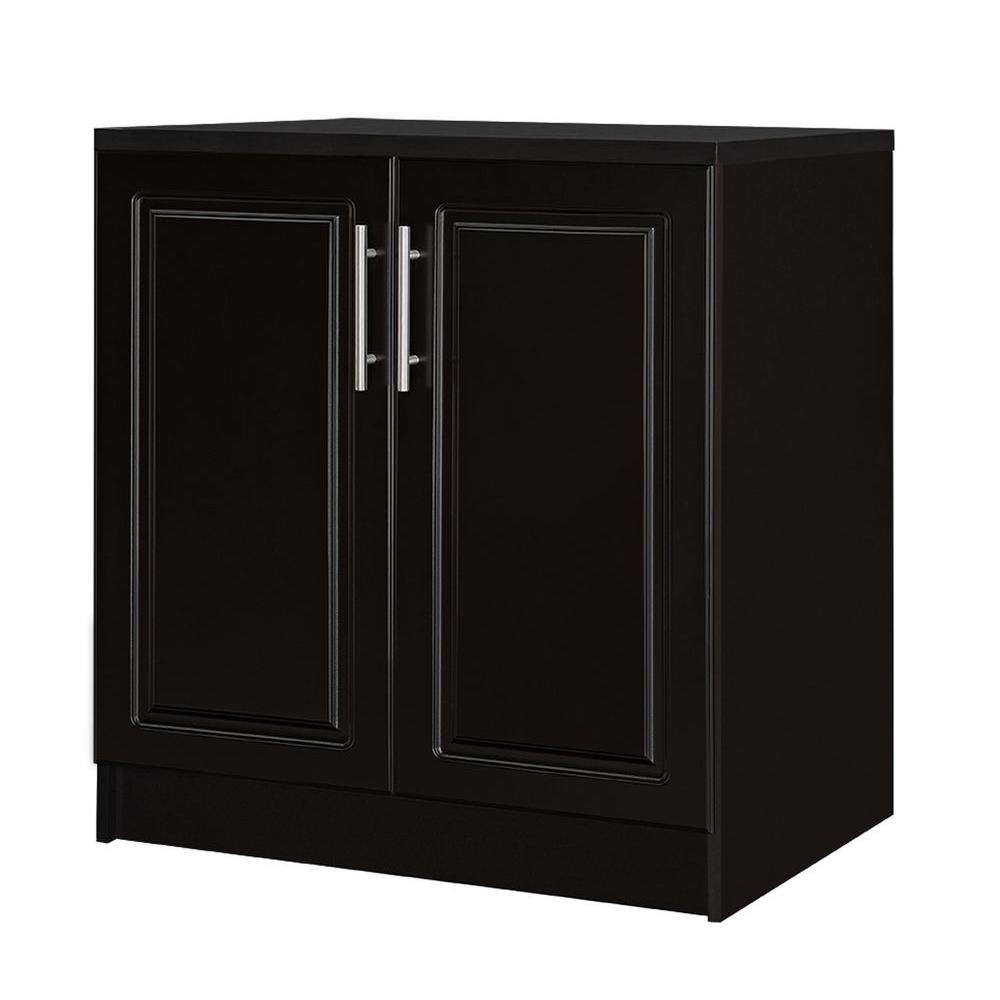 Hampton Bay Select 24.7 in. D x 32 in. W x 35.9 in. H 2-Door Base Wood Freestanding Cabinet in Espresso