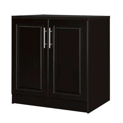 Select 24.7 in. D x 32 in. W x 35.9 in. H 2-Door Base Wood Freestanding Cabinet in Espresso